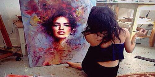 Она рисует смерть